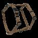 Wolters | Geschirr Basic in Nougat | Nylon,braun 1