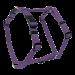 Wolters | Geschirr Basic in Violett | Nylon,lila 1