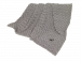 Nobby | Fleece Plaid SUPER SOFT hellgrau | Plüsch,grau 1