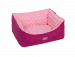 Nobby | Komfort Bett eckig ARUSHA pink | Plüsch,rosa 1
