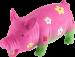 Trixie | Blumenschwein, Original Tierstimme, Latex | Gummi,rosa 1