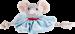 Trixie | Hundekönig Maus Tuch Leopold | Plüsch,Tau,blau,grau 1