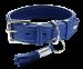 Hunter   Halsband Cannes in Blau   Leder,blau 1