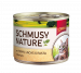 Schmusy | Nature Huhn, Lachs & Pasta | Fisch,Geflügel,Nassfutter,Dose 1