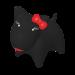 Wolters | PicoBella Gassi-Box in Schwarz | Kunststoff,schwarz 1