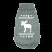 Wolters | Strickpullover mit Elch für Mops&Co in Grau/Weiß | Strick,grau 1