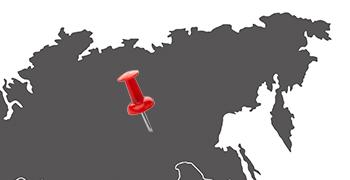 Weltkarte Sibirien