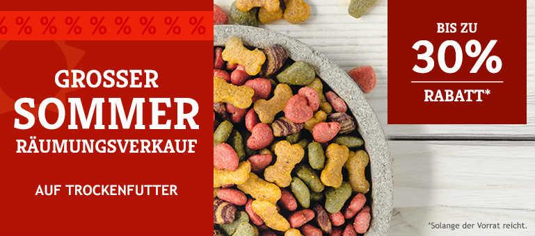 Sommer-Räumungsverkauf auf Trockenfutter