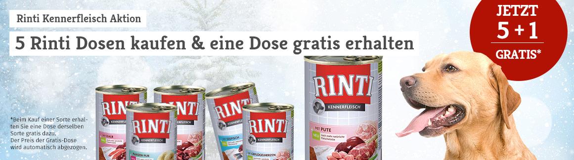 Rinti Kennerfleisch Nassfutter 5+1