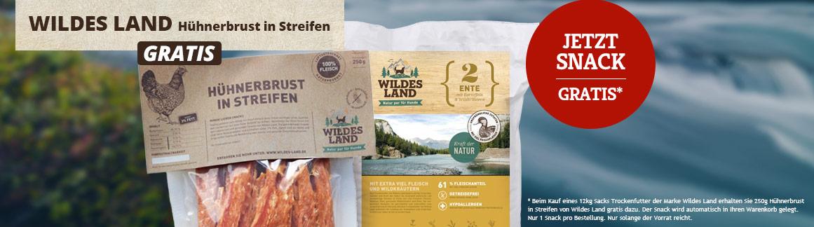 Wildes Land Trockenfutter Aktion Gratis-Snack