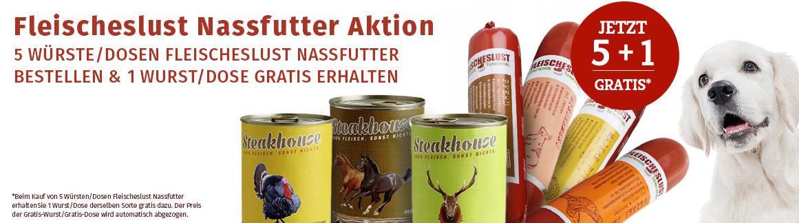 Fleischeslust Nassfutter Sale 5+1