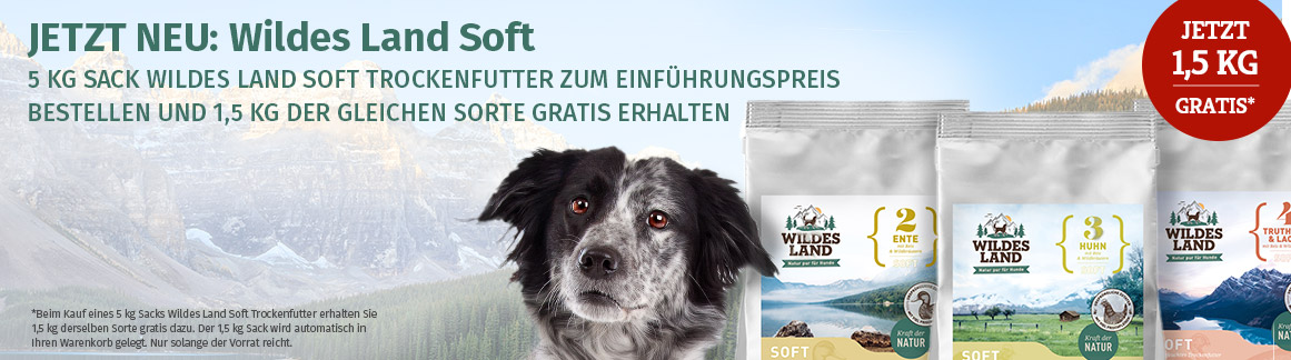 Wildes Land Trockenfutter Soft Aktion