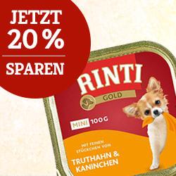 Rinti Gold Mini Truthahn & Kaninchen 20% Rabatt