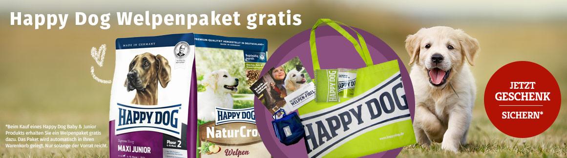 Happy Dog Sale Welpenpaket Gratis