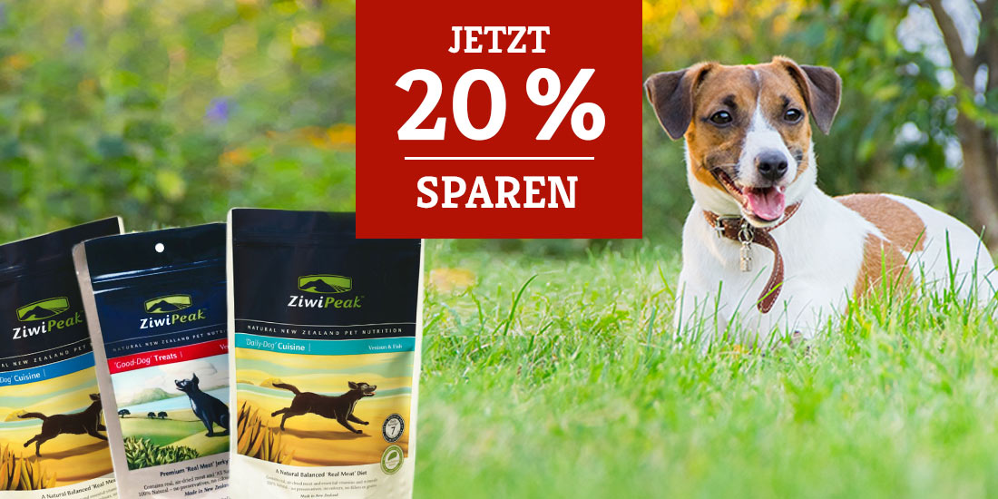 ZiwiPeak Hundefutter Sale 20%