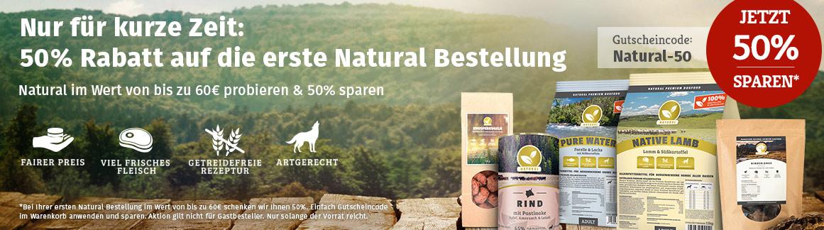 Natural Aktion - 50% Rabatt