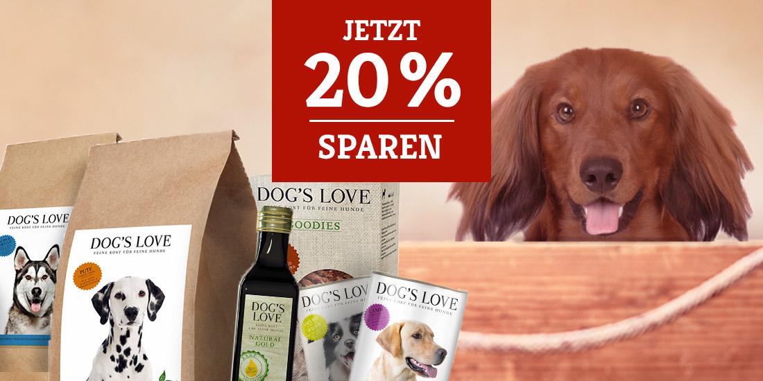 Dog's Love Hundefutter - 20% Rabatt