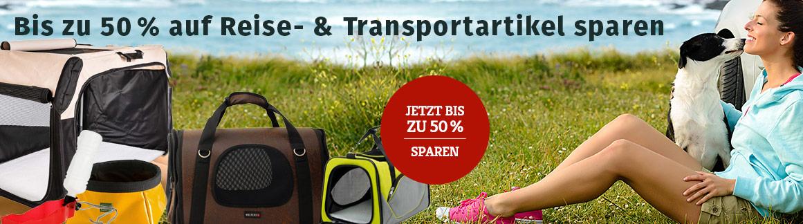 Bis zu 50% Rabatt auf Reise-& Transportartikel für Hunde