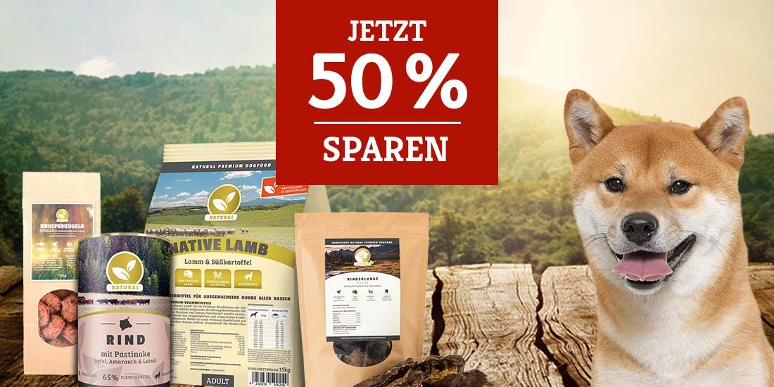 Natural Aktion - 50% Rabattaktion