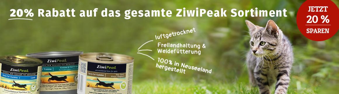 ZiwiPeak Katzenfutter 20% Rabatt