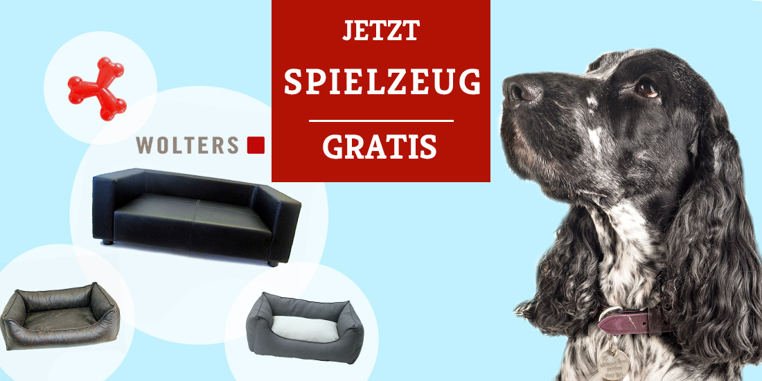 Wolters Aktion - Hundespielzeug gratis