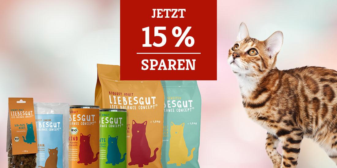 Liebesgut Katzenfutter 15% Rabatt Aktion
