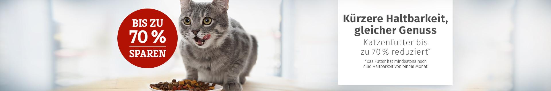 Katzenfutter bis zu 70% reduziert