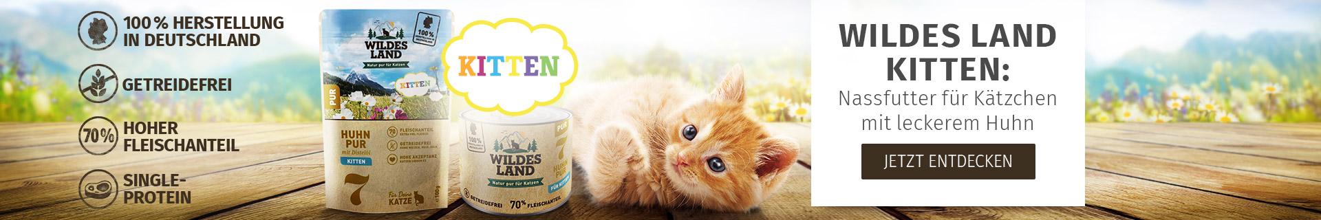 Wildes Land Katze - Nassfutter für Kitten