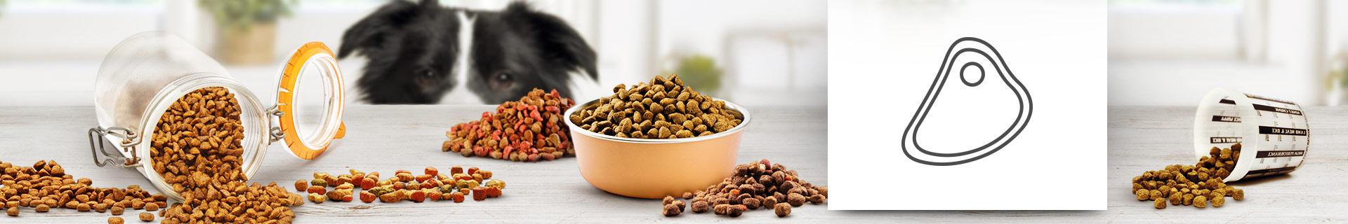 Trockenfutter mit hohem Fleischanteil für Hunde