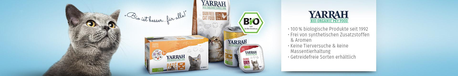 Yarrah Markenshopbanner für Katze