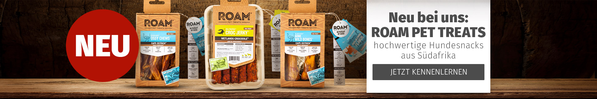Roam Pet Treats Neuheit