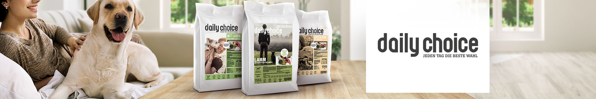 daily choice Trockenfutter für Hunde