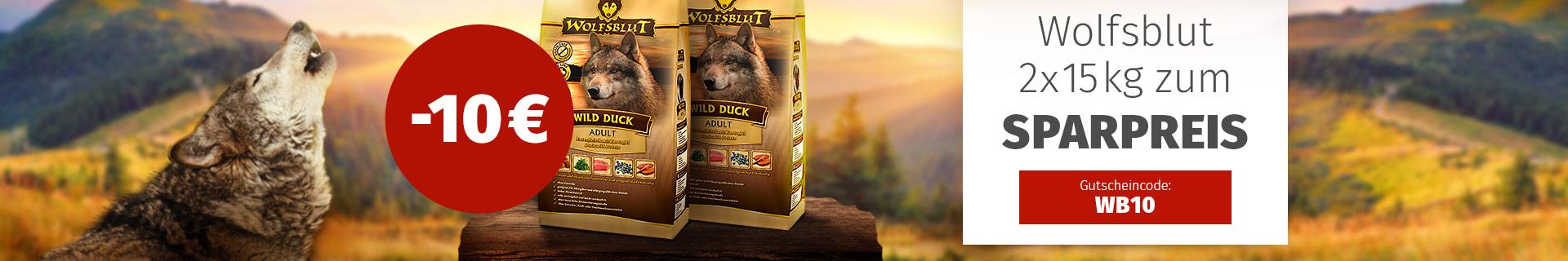 Wolfsblut Trockenfutter Vorratsaktion - 10€ Rabatt