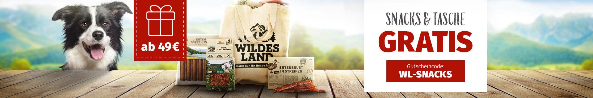 Wildes Land Snackpaket mit Tragetasche