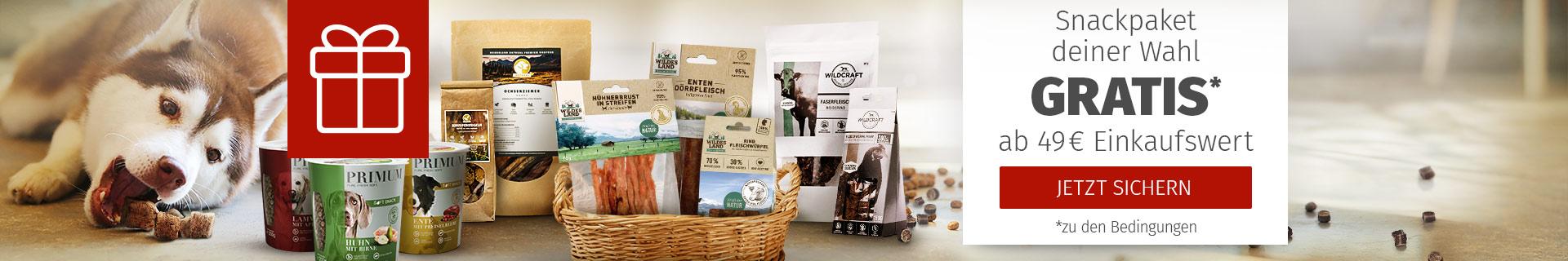 Snackpaket für Hunde gratis ab 49€ Mindesteinkaufswert
