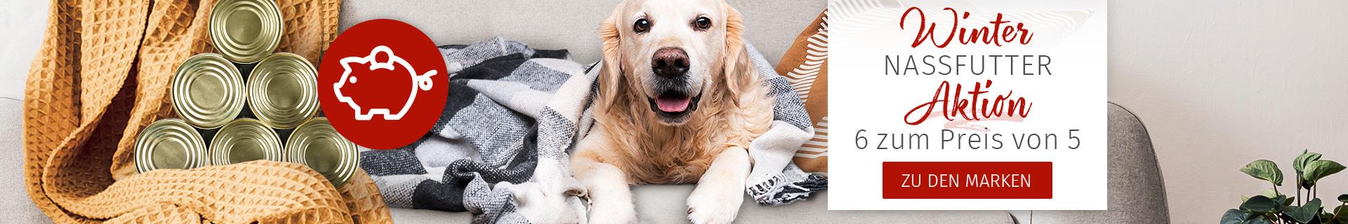 Nassfutter Aktion für Hunde - 6 für 5