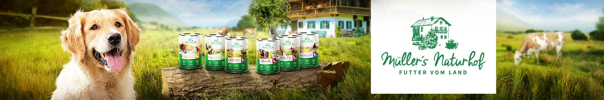 Müller's Naturhof Nassfutter für Hunde