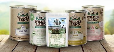Wildes Land Nassfutter ohne Getreide Hund