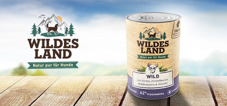 Wildes Land Nassfutter hoher Fleischanteil Hund