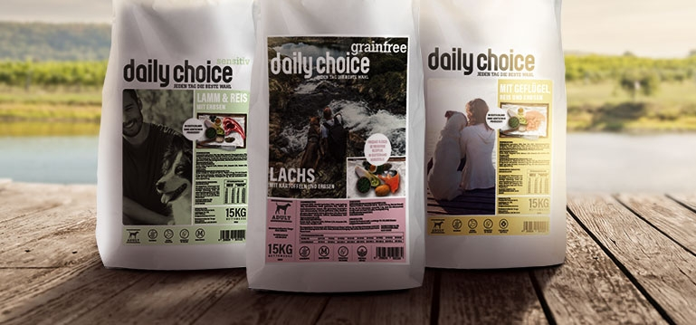 daily choice Trockenfutter Hund